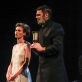 """Jonė Dambrauskaitė ir Rolandas Kazlas spektaklyje """"Daktaras Glasas"""". D. Labučio nuotr."""