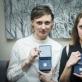 Scenos meno kritikų asociacijos apdovanojimų laureatės Gintarė Masteikaitė ir Aušra Kaminskaitė. D. Matvejevo nuotr.