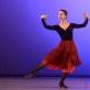 """Viltė Lauciūtė šoka miniatiūrą """"La Cachucha"""". M. Aleksos nuotr."""