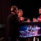 """Vygandas Vadeiša, Gediminas Rimeika ir Simonas Dovidauskas spektaklyje """"Reikalai"""". Meno ir mokslo laboratorijos nuotr."""