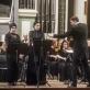 Lilija Gubaidulina, Ieva Prudnikovaitė, Modestas Pitrėnas, Edgaras Davidovičius ir Nacionalinis simfoninis orkestras. D. Matvejevo nuotr.