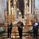 Michal Markuszewski, Klaudiusz Baran ir koncerto vedėjas. K. Kozłowskos nuotr.