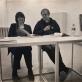 """Agnė Narušytė ir Gintaras Zinkevičius pristato Remigijaus Pačėsos knygą """"Shtai"""", KKKC parodų rūmai. 2018 m. lapkričio 9 d. A. Kulikausko nuotr."""