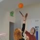 Vidaus krepšinis su stalo teniso raketėmis. K. Rimkutės nuotr.