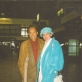 Algis Žiūraitis ir Audronė Žiūraitytė Vilniaus oro uoste. 1997 m. gegužė. Nuotrauka iš A. Žiūraitytės asm. archyvo
