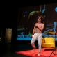 """Arielis Sereni Brownas spektaklyje """"A-hole Fuckin Loser"""". Asmeninio archyvo nuotr."""