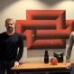 Amerikiečiai Steve (kairėje) ir Robert (dešinėje) tik neseniai aptiko, kad garaže beveik penkerius metus laikytas paveikslas - tai optinio meno meistro Kazio Varnelio darbas