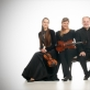 """Artimus"": Magdalena Filipczak (smuikas), Ūla Ulijona Žebriūnaitė (altas), Henry-Davidas Varema (violončelė)"