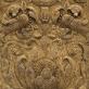 Aukso ir sidabro siūlais siuvinėto arnoto fragmentas. Lvovas, XVII a. Vilniaus katedra