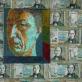 Bronius Gražys. Autoportretas už sienos. Drobė, aliejus. 2004 m.