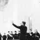 "Koncerto ""Bogurodzica"" akimirka, dirigentas Bartosz Izbicki. R. Dakševič nuotr."
