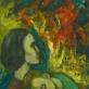 "Maksas Bandas, ""Moteris su vaiku degančio miesto fone"". ""Lewben Art Foundation"" kolekcija"