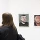 """Paroda """"The Big Picture"""". Iš kairės Kazimiero Brazdžiūno paveikslas """"H. D."""", ir Andriaus Zakarausko diptikas """"Apaštalai"""". M. Žičiaus nuotr."""