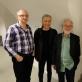 Christianas Heindlis su austrų kompozitoriais Wolfgangu Seierliu, Kurtu Schwertsiku ir Ivánu Erödu (iš kairės į dešinę). Viena, 2017 m. Alejandro del Valle-Latanzio nuotr.