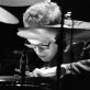 "Būgnininkas Dre Hocevar iš ""Nate Wooley"" kvarteto. D. Klovienės nuotr."