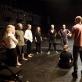 "Spektaklio ""Durys"" repeticija. T. Ivanausko nuotr."