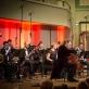 """Denisas Šapovalovas, Giedrius Vaznys ir Kauno pučiamųjų orkestras """"Ąžuolynas"""". E. Virkečio nuotr."""
