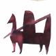 Diana Remeikytė. Fantastiniai gyvūnai. Akvarelė ant estampinio popieriaus, 78x78cm. 2020 m.