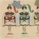 """Mstislavas Dobužinskis, operos """"Raimonda"""" kostiumų eskizas. 1933 m."""