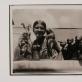 Domicėlė Tarabildaitė-Tarabildienė. Domicėlė prie savo skulptūros darbų Meno mokykloje. Kaunas.1932–1933 m. Iš Nacionalinio M.K. Čiurlionio dailės muziejaus archyvo