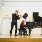 """""""Duo CoLore"""": smuikininkas Konradas Levickis ir pianistė Lauryna Lankutytė (LMTA). M. Endriuškos nuotr."""