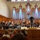 David Geringas ir Valstybinės konservatorijos simfoninis orkestras. Lietuvos Respublikos ambasados Maskvoje nuotr.