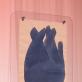 """Antano Mončio piešinys. Parodos """"Glamonė"""" galerijoje """"Vartai"""" fragmentas. L. Skeisgielos nuotr."""
