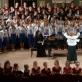 Finalinė festivalio daina, diriguoja Svitlana Stepanenko. T. Lukšio nuotr.
