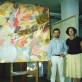Vladislovas Žilius su Ingrida Korsakaite dailininko studijoje Niujorke. 1991 m.