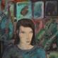 """Robertas Lomsargis (17 m.). """"Merginos portretas"""". Mok. Vytautas Bliūdžius, Šilutės meno mokyklos, Švėkšnos klasė. III vieta"""