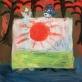 """Iš Inos Budrytės parodos """"Saulės!"""". V. Nomado nuotr."""