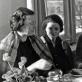 Istorijos instituto Menotyros sektoriuje. Iš kairės: Irena Kostkevičiūtė, Marijana Malcienė, Ingrida Korsakaitė, Vanda Zaborskaitė. XX a. 7-asis deš.
