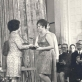 Irina Archipova įteikia Giedrei Kaukaitei M. Glinkos konkurso I premiją. Asmeninio archyvo nuotr.