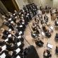 """Choras """"Jauna muzika"""", Lietuvos kamerinis orkestras ir Vaclovas Augustinas. D. Matvejevo nuotr."""