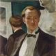 Justinas Vienožinskis, Autoportretas. 1936 m. Nacionalinis M.K. Čiurlionio muziejus
