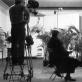 """Marcelis Broothaersas per savo kūrinio """"Un Jardin d'Hiver (ABC)"""" filmavimą, Briuselis, 1974 m. M. Gilissen nuotr."""