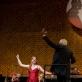 Konkurso nugalėtoja Louise Foor, Gintaras Rinkevičius ir LNOBT orkestras. M.Mikulėno nuotr.