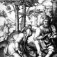 """L. van Leydenas, """"Besiilsintys piligrimai"""". Apie 1508 m."""