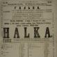"""Stanisławo Moniuszkos operos """"Halka"""" afiša. 1861 m. Lietuvos teatro muzikos ir kino muziejus"""