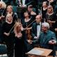 """Justina Gringytė, choro """"Ąžuoliukas"""" vadovas Vytautas Miškinis, Gintaras Rinkevičius ir Lietuvos valstybinis simfoninis orkestras. G. Jauniškio nuotr."""