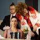 """Arminas Skirvainis (Potapyčius), Ieva Prudnikovaitė (Blanša), Inesa Linaburgytė (Bobulytė), Tomas Pavilionis (Markizas) operoje """"Lošėjas"""". M.Aleksos nuotr."""