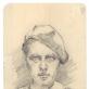 Marcė Katiliūtė. Autoportreto eskizas. 1933 m. Iš Nacionalinio M.K. Čiurlionio dailės muziejaus archyvo