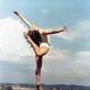 """Adauktas Marcinkevičius, """"Vilniaus universiteto Filologijos fakulteto studentė, gimnastė, vėliau – teatro ir televizijos režisierė Irena Žvigaitytė-Bučienė (1940–2001)"""", Vilnius. 1959 m."""