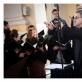 "Choras ""Polifonija"" ir dirigentas Tomas Ambrozaitis. D. Stankevičiaus nuotr."