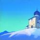 """Nikolajus Rerichas. """"Šv. Sergijaus vienuolynas"""". 1936 m. Latvijos nacionalinis dailės muziejus"""