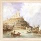 Napoleonas Orda. Beaucaire. 1839. Popierius, akvarelė. LMA Vrublevskių biblioteka