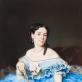 Nežinomas XIX a. dailininkas. Moteris žydra suknele. A. Lukšėno nuotr.
