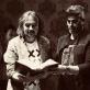 """Spektaklio """"Rusiškas romanas"""" režisierius Oskaras Koršunovas ir kompozitorius Antanas Jasenka. Organizatorių nuotr."""