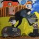 """Sigitas Šarkovas, """"Akmens išridenimas iš daržo. 8 m. (1986 m.)"""