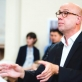 """""""Pasijos pagal Matą"""" dirigentas Abramas Bezuijenas. J. Šopos nuotr."""